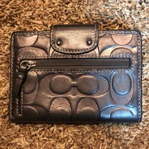 Coach Bags - Coach wallet - embossed black/pewter